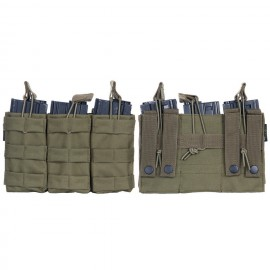 TRIPLE OPEN TOP M4 MAG POUCH