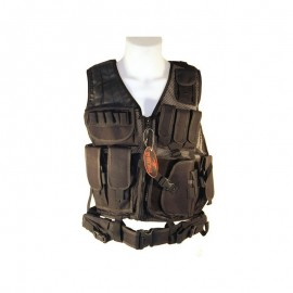 Tactical Vest  8 pouches holster en riem Zwart