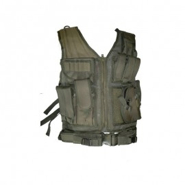 Tactical Vest Olive 8 pouches holster en riem