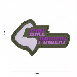 EMBLEEM 3D PVC GIRL POWER  ROZE 19048