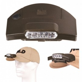 5 LED BASEBALL CAP CLIP-ON HOOFDLAMP