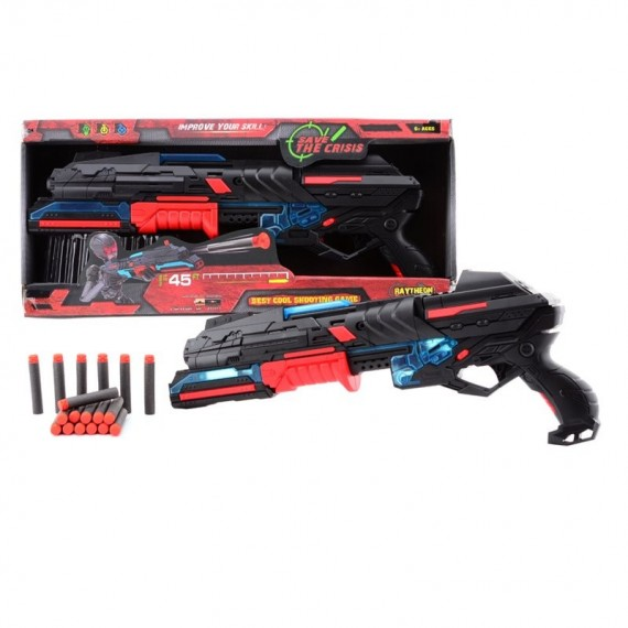SERVE & PROTECT SHOOTER LARGE 50CM MET LICHT + 10 PIJLEN 70