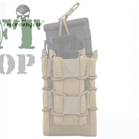 EMERSON Airsoft Modular Rifle and Pistol Magazine Pouch Khaki