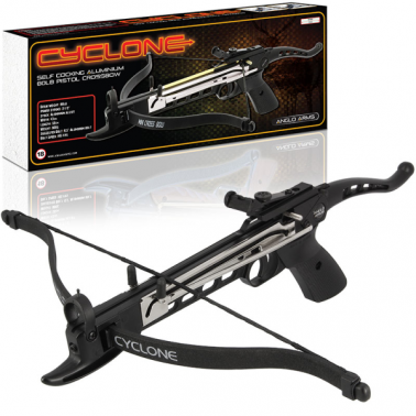 80lb Anglo Arms 'Cyclone' Aluminium Self Cocking Crossbow (BLACK)